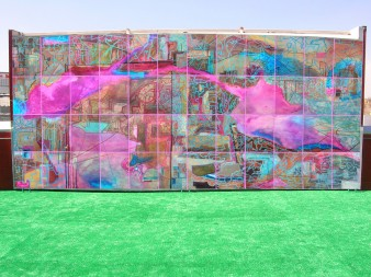 Mural 2 Óleo sobre papel sobre madera