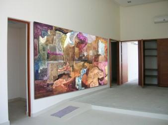 Mural 3 Óleo sobre papel sobre madera